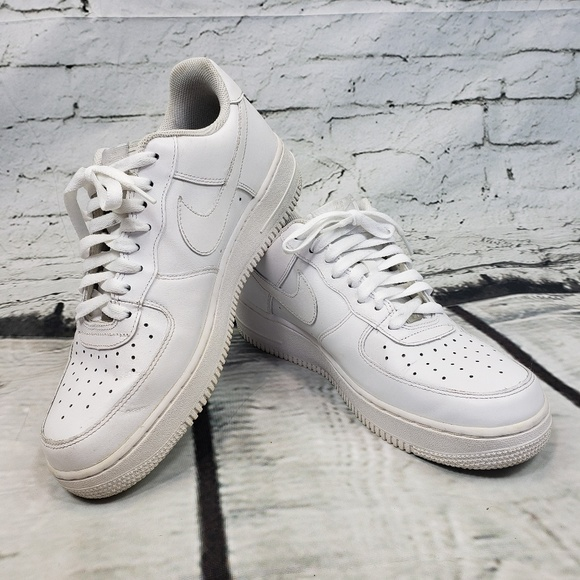 07 Nike Air Force 1 Men's Size 9 White on White